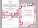 Editable Wedding Invitation Templates Diy Wedding Invitation Template Set Editable Word File