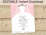 Editable Wedding Invitation Templates Editable Instant Download Bridal Shower Invitation