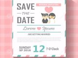 Editable Wedding Invitation Templates Wedding Invitation Card Template Vector Illustration