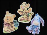 Eeyore Baby Shower Invitations Personalized Winnie the Pooh Tigger Eyore Baby Shower