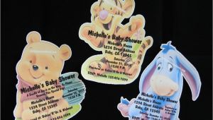 Eeyore Baby Shower Invitations Personalized Winnie the Pooh Tigger Eyore Baby Shower
