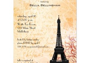 Eiffel tower Bridal Shower Invitations Eiffel tower Bridal Shower Invitation Zazzle