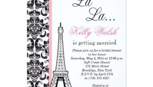 Eiffel tower Bridal Shower Invitations Eiffel tower Damask Paris Bridal Shower Invitation Zazzle