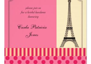 Eiffel tower Bridal Shower Invitations Eiffel tower French Bridal Shower Invitation Zazzle Com