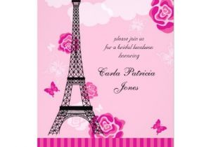 Eiffel tower Bridal Shower Invitations Eiffel tower French Bridal Shower Invitation Zazzle