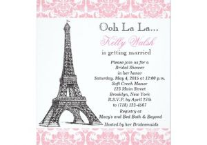 Eiffel tower Bridal Shower Invitations Eiffel tower Pink Paris Bridal Shower Invitation Zazzle