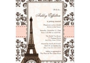 Eiffel tower Bridal Shower Invitations Parisian Eiffel tower Bridal Shower Invitations 5 Quot X 7