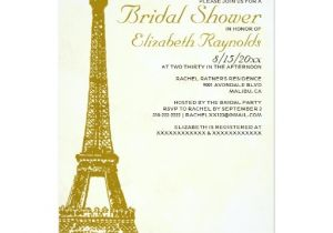 Eiffel tower Bridal Shower Invitations Vintage Eiffel tower Bridal Shower Invitations Zazzle