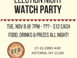 Election Party Invitations Beyond Voting Election 2016 In astoria Lic and