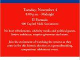Election Party Invitations Citizen Voice events