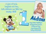Electronic 1st Birthday Invitations Free Printable Mickey Mouse 1st Birthday Invitations