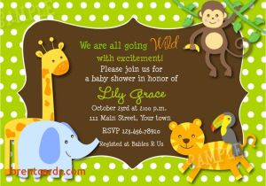 Electronic Baby Shower Invites Electronic Baby Shower Invites Safari Jungle Animals Baby