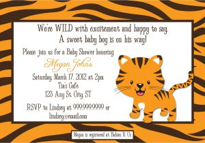 Electronic Baby Shower Invites Tiger Digital Baby Shower or Birthday Invitation by