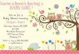 Electronic Baby Shower Invites Whimsey Owl Whimsical Girl Digital Baby Shower by Bdesigns4you