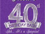 Elegant 40th Birthday Invitation Template 40th Birthday Invitation 40th Birthday Invites Surprise