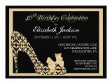 Elegant 40th Birthday Invitation Template Elegant 40th Birthday Damask Shoe Invitation 11 Cm X 16 Cm