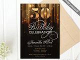 Elegant 40th Birthday Invitation Template Modern Gold and Black 50th Birthday Invitation Template