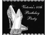 Elegant 40th Birthday Invitation Template Womans Elegant Black Birthday Party 5 25×5 25 Square Paper