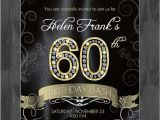 Elegant 60th Birthday Invitation Wording 60th Birthday Party Elegant Invitation with Diamond