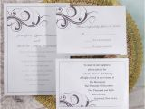 Elegant Affordable Wedding Invitations Simple White and Grey Inexpensive Printable Wedding