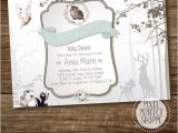 Elegant Baby Shower Invitations for Girls Bambi Baby Shower Invitation Girl Shower Party Party