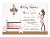 Elegant Baby Shower Invitations for Girls Pink Elegant Nursery Baby Girl Shower Invitation 5 Quot X 7