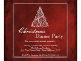Elegant Christmas Dinner Party Invitations Elegant Holiday Christmas Dinner Party Invitation