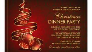 Elegant Christmas Party Invitation Template Elegant Christmas Dinner Party Invitation Template