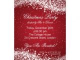 Elegant Christmas Party Invitations Free Christmas Party Invitation Elegant Sparkle Red 5 Quot X 7