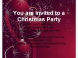 Elegant Christmas Party Invitations Free Christmas Party Invitation Template Free Cimvitation