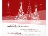 Elegant Christmas Party Invitations Free Elegant Red White Holiday Christmas Party 5 25 Quot Square