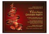 Elegant Party Invitation Template Elegant Christmas Dinner Party Invitation Template