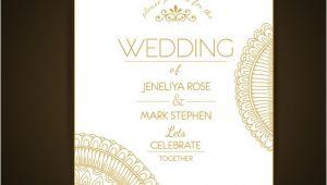 Elegant Wedding Invitation Template Free Elegant Wedding Invitation Template Vector Free Download