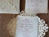 Elegant Wedding Invites Reviews Graceful Ivory Shimmery Laser Cut Wedding Invitation with