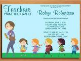 Elementary Graduation Invitations Teacher Elementary Education Degree Graduation Party