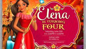 Elena Of Avalor Birthday Invitation Template Elena Of Avalor Invitation Disney Princess Elena Invite