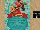 Elena Of Avalor Party Invitations Elena Of Avalor Invitation Elena Of Avalor Birthday