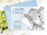 Elephant Baby Shower Invitations for Boys Blue Elephant Baby Shower Invitation It S A Boy