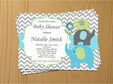 Elephant Baby Shower Invitations for Boys Boy Baby Shower Invitation Elephant Baby Shower Invitations