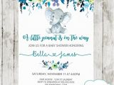 Elephant Baby Shower Invitations for Boys Elephant Baby Shower Invitations Boy Floral Teal Blue