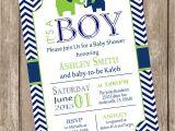 Elephant Baby Shower Invitations for Boys Elephant Boy Baby Shower Invitation Elephant Baby Shower