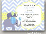 Elephant Baby Shower Invitations for Boys Items Similar to Elephant Baby Shower Invitation Boy Diy