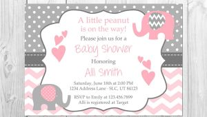 Elephant Baby Shower Invitations for Girls Pink and Grey Elephant Baby Shower Invitation It S A Girl