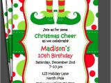 Elf Birthday Party Invitations Christmas Elf Invitation Printable or Printed with Free