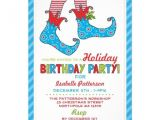 Elf Birthday Party Invitations Christmas Holiday Elf Birthday Party Invitation Birthday