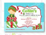 Elf Birthday Party Invitations Elf Boy Personalized Party Invitation