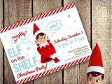 Elf Birthday Party Invitations Elf On the Shelf Inspired theme Do It Yourself Printable