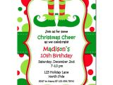 Elf On the Shelf Party Invitations Christmas Elf Feet Party Invitation by that Party Chick