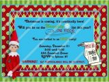Elf On the Shelf Party Invitations Elf On the Shelf Birthday Invitation Cobypic Com