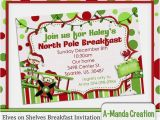 Elf On the Shelf Party Invitations Elves On Shelves north Pole Breakfast Invitation Adorable